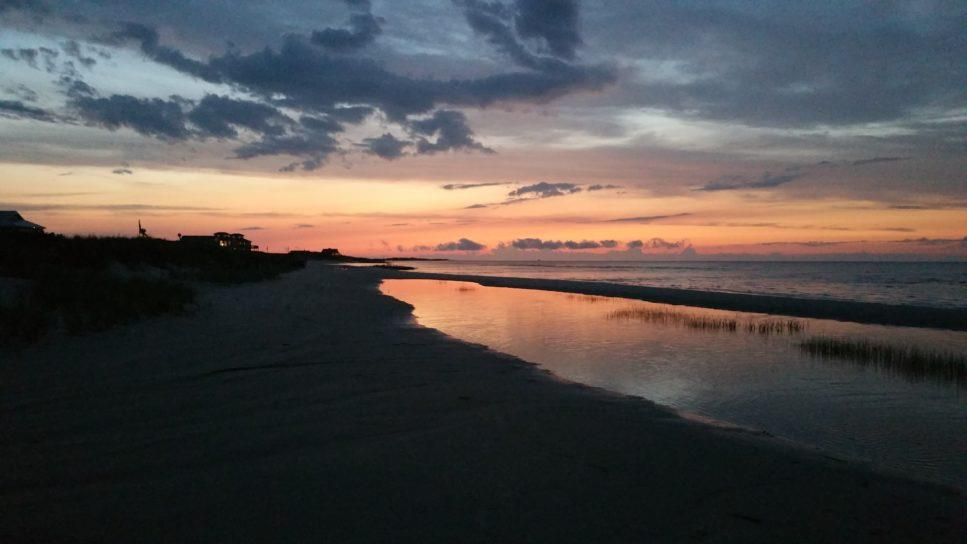 Cedar Island Beach sunset